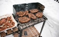 Above: Follow these few tips for grilling in the cold