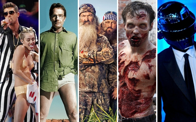 Above: Robin Thicke, Walter White, Duck Dynasty, Walking Dead Zombie and Daft Punk