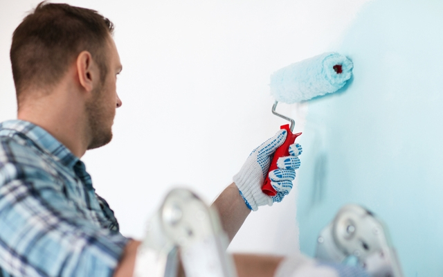 Above: A fresh coat of paint is a simple way to instantly upgrade your apartment (Photo: Syda Productions/Shutterstock)