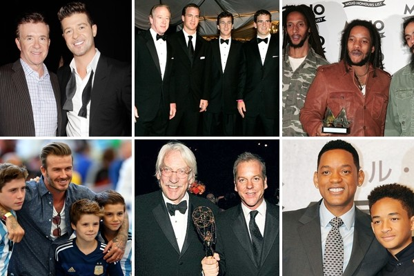 Above: 6 famous celebrity fathers and sons