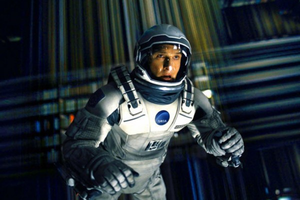 Above: Matthew McConaughey in Christopher Nolan's sci-fi opus 'Interstellar'