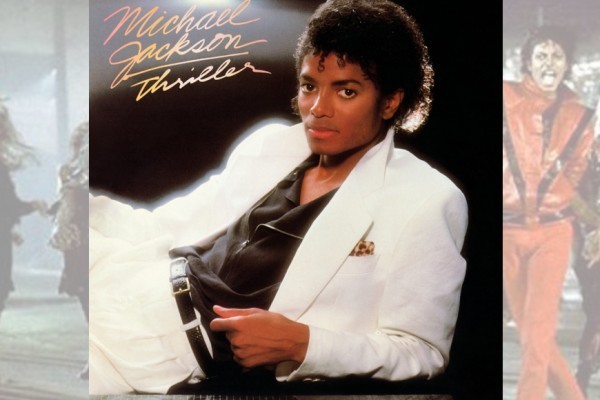 Above: Michael Jackson's 'Thriller' has become the first album to be certified 30-times multi-platinum in U.S. sales, topping more than 30 million sales in America