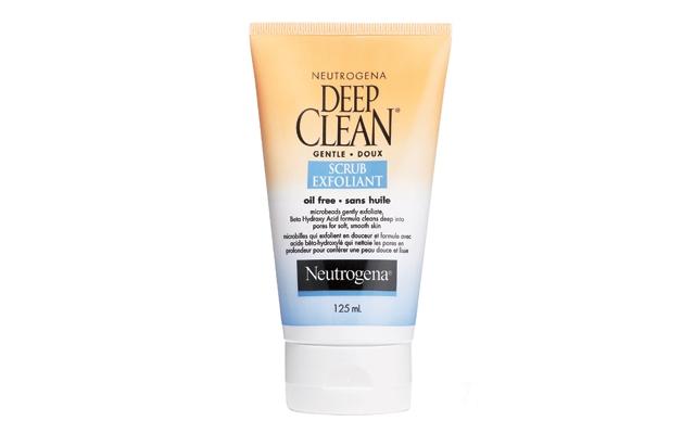 Above: Neutrogena's Deep Clean Gentle Scrub