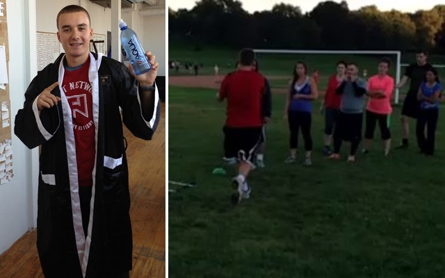 Above left: Chris Connolly joins the Agency Wars lineup / Above right: Connolly (in red) running the track during training