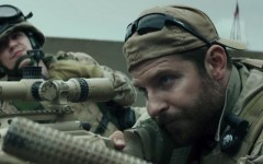Above: Bradley Cooper plays U.S. Navy SEAL Chris Kyle in Clint Eastwood's biographical war drama, 'American Sniper'
