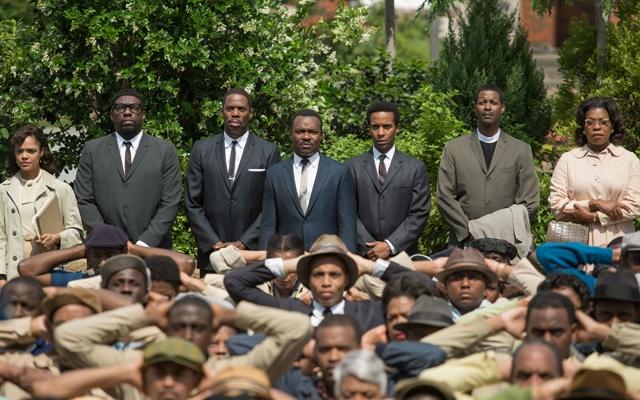 Above: David Oyelowo stars as Dr. Martin Luther King Jr. in 'Selma'