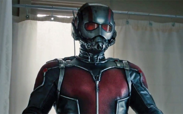 Above: Paul Rudd stars in 'Ant-Man'