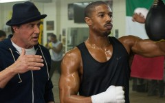 Above: Sylvester Stallone and Michael B. Jordan star in 'Creed'