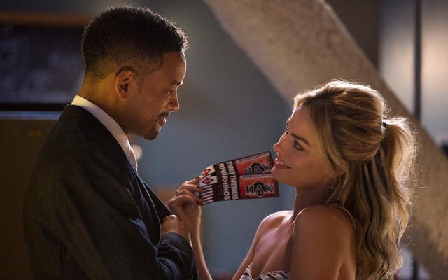 Above: Will Smith and Margot Robbies star in 'Focus'