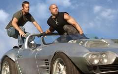 Above: Paul Walker and Vin Diesel in 'Furious 7'