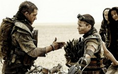 Above: Tom Hardy and Charlize Theron star in Warner Bros.'s 'Mad Max: Fury Road'