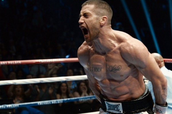 Above: Jake Gyllenhaal stars in 'Southpaw'