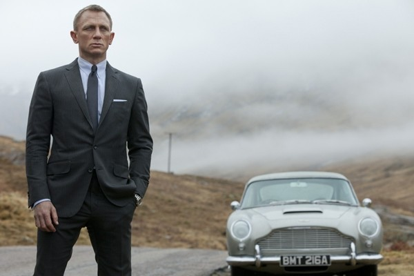 Above: Daniel Craig makes his fourth appearance as James Bond in 'Spectre'