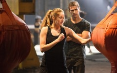 Above: Shailene Woodley and Theo James star in 'The Divergent Series: Insurgent'