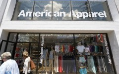 Above: American Apparel files for Chapter 11 bankruptcy