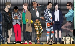 AmongMen Spring 2014 fashion illustrations by