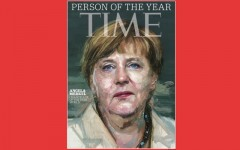 Above: German leader Angela Merkel named Time's Person of the Year