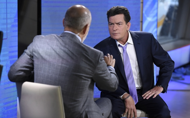 Above: In an interview with Matt Lauer, Charlie Sheen confirmed that he is HIV-positive