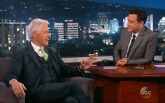 Above: Bill Clinton weighs in on the Rob Ford Crack scandal with Jimmey Kimmel