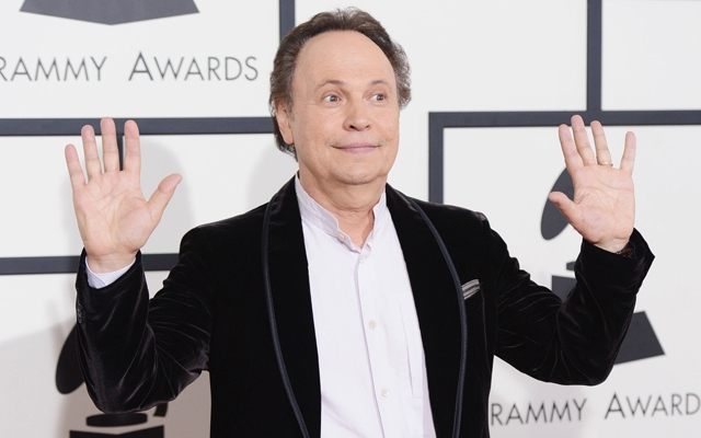 """Above: Billy Crystal says that gay scenes on TV are sometimes """"too much for me"""""""