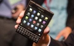 Above: The new BlackBerry Passport  (Photo: Reuters)
