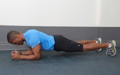 Above: Fitness expert Brent Bishop demonstrates the Abdominal Plank