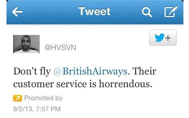 Twitter user Hasan Syed's promoted tweet (Screencap: Twitter)