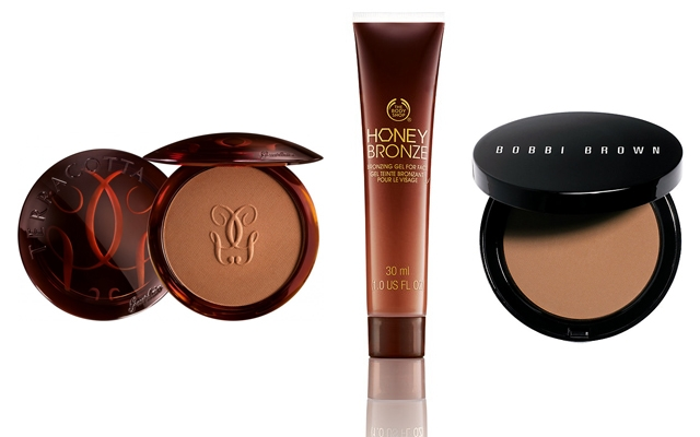 Bronzers men can use? Guerlain Terracotta Bronzing Powder, The Body Shop Bronzing Gel and Bobbi Brown Bronzing Powder
