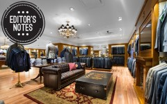Above: The men's lounge at Brooks Brothers flagship store in Toronto (Photo: JJ Thompson/www.medianeeds.ca)