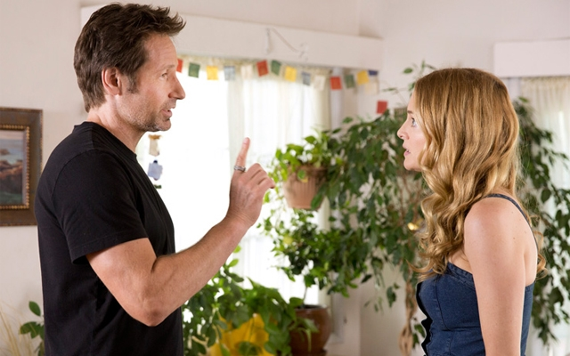 Above: Hank and Julia talk in the series finale.