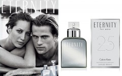 Above: The 25th anniversary edition of the 'Eternity' ad with Christy Turlington & Mark Vanderloo