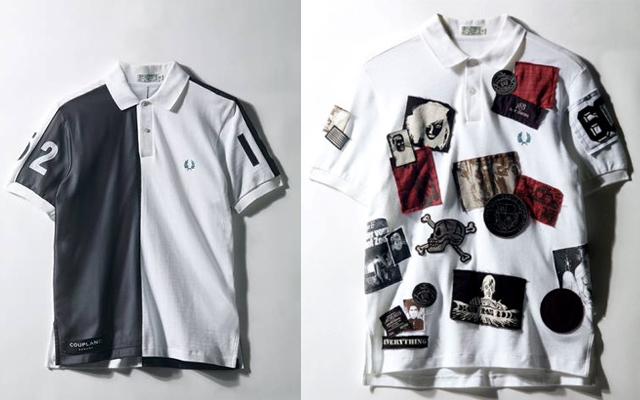 Above: Fred Perry polos designed by Douglas Coupland and Raf Simons