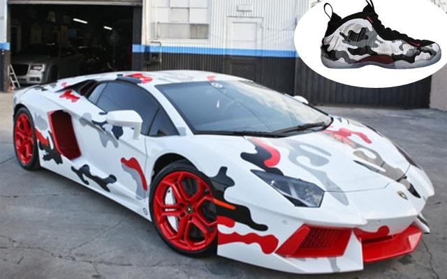 Chris Brown's Nike-inspired Lamborghini