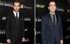 Chris Pine and Zachary Quinto at the Star Trek Into Darkness premiere in New York City