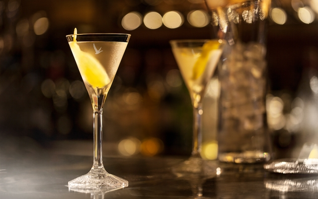 Above: Grey Goose's signature dry martini
