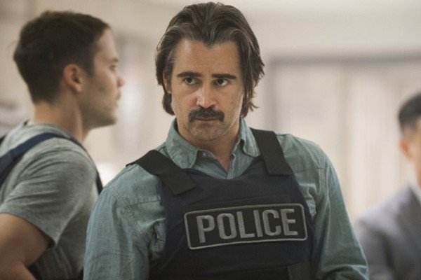 Above: Colin Farrell leads the new cast of True Detective.