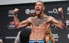 Above: Featherweight 'The Notorious' Conor McGregor