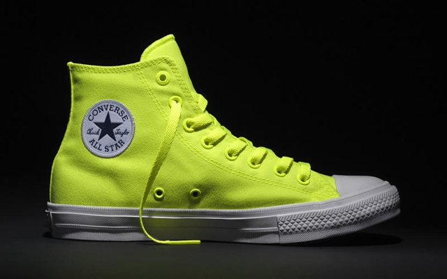 Above: The Chuck Taylor All Star II in a new, vibrant Volt colourway