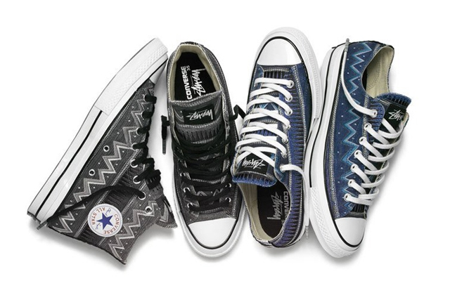 Above: A fresh interpretation of Stüssy's rich graphic heritage reimagined on the premium Converse Chuck '70