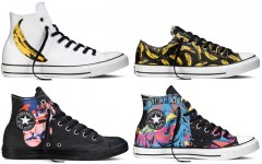 Above: The fall 2015 Converse Chuck Taylor All Star Andy Warhol collection