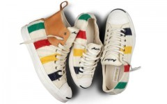 Above: The Converse Jack Purcell X Hudson's Bay sneaker collection