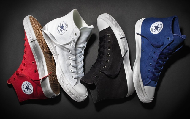 Above: Converse's new Chuck Taylor All Star II hits stores on July 28, 2015 (Photo: Converse)