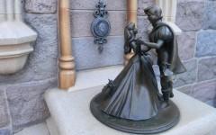 Above: The Sleeping Beauty statue at Disneyland in Anaheim, California