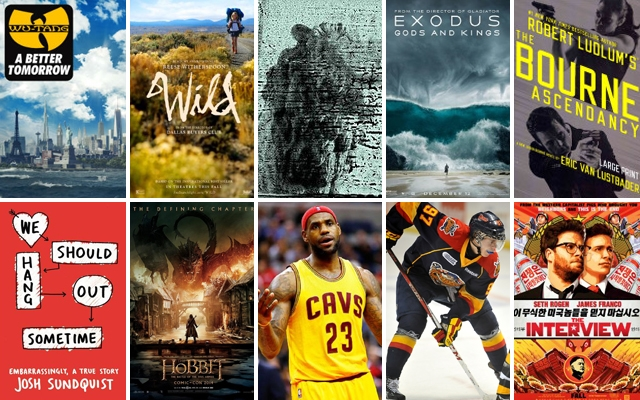 Above: The movies, music, books and games coming your way this December