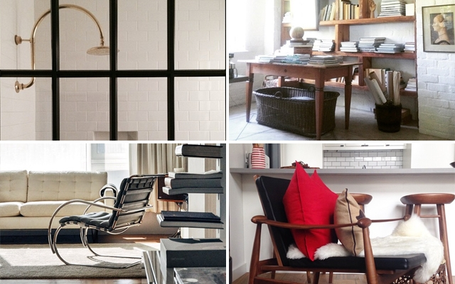 Above (clockwise from left): Interior inspiration from Grant K Gibson, Deana bottom, Colin and Justin and TRNK