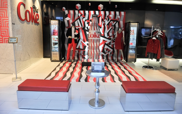 Above: Inside the Diet Coke 'Get A Taste Style Bar' in Toronto, which features the brands curated fashion collection available on Gilt.com (Photo courtesy of: Getty Images)