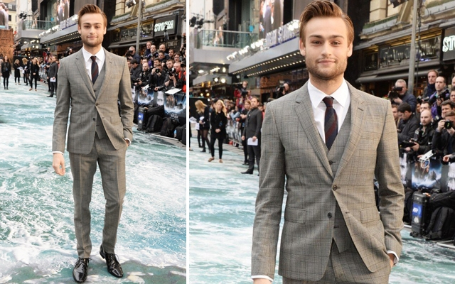 Above: Douglas Booth at the 'Noah' premiere in London, England