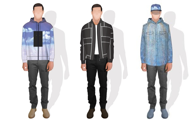 Sketches of Drake's Calvin Klein tour wardrobe (Credit: © 2013 Italo Zucchelli, Calvin Klein Collection)