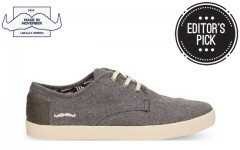 Above: Toms for Movember grey wool men's paseos