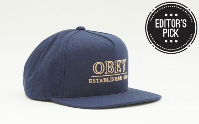 Above: Obey's Cambridge Hat in navy